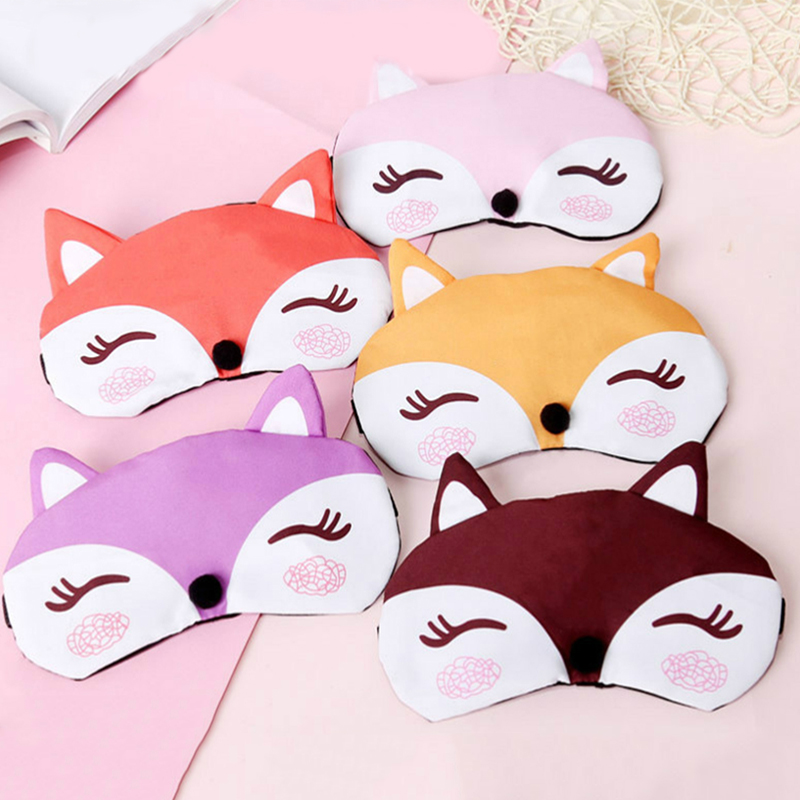 Sleep Eye Mask Eyeshade Cotton Fox Eyepatch Sleeping Mask Cute Eye Cover Travel Rest Eye Band Sleeping Aid Kids Eye Blindfolds