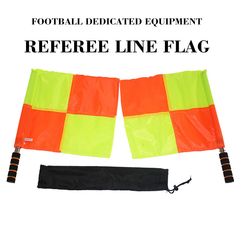 Sporting Match Flag Signal Corner Athletics Soccer Orange Side Line Performance Referee Assistant Signal Hand Patrol Flags 2 Pcs