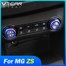Vtear for MG ZS Car styling Air Conditioning volume knob decoration cover sticker control button ring frame accessories interior