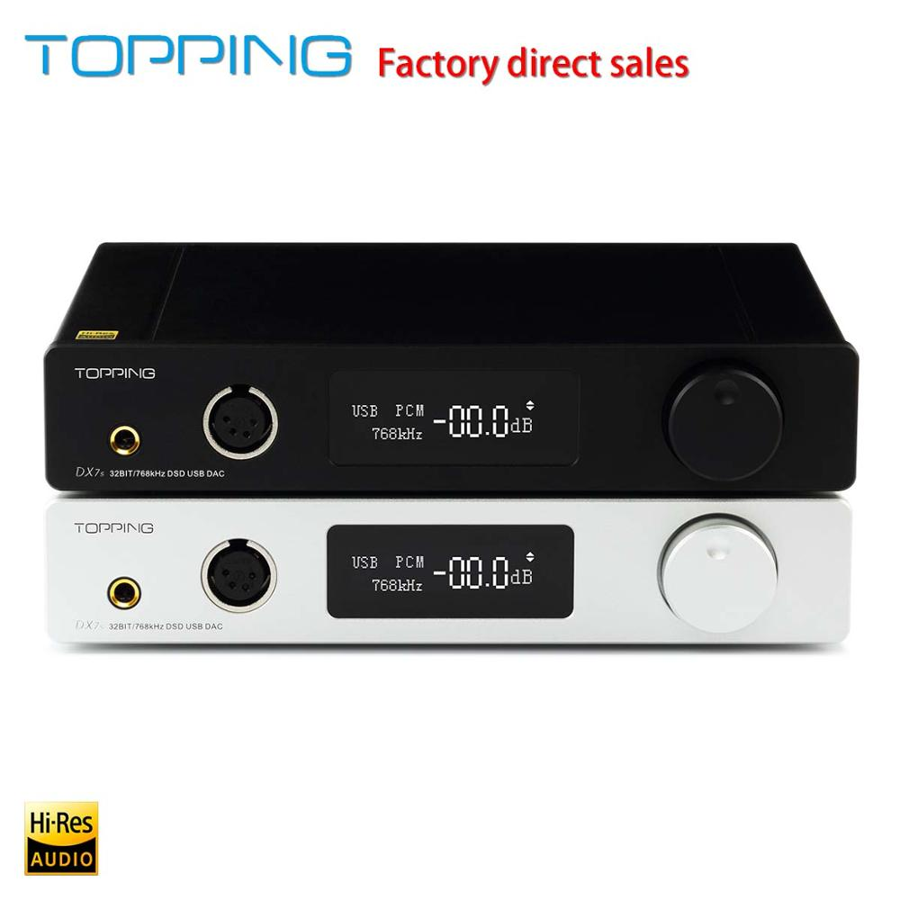 New products TOPPING DX7s Benchtop Fully Balanced Decoder and Decoding amp XMOS XU208+ES9038Q2M+OPA1612,DSD512 <font><b>USB</b></font> <font><b>DAC</b></font> image
