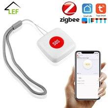 Sos-Button-Sensor-Alarm Elderly-Alarm TUYA Smartlife Zigbee App Waterproof