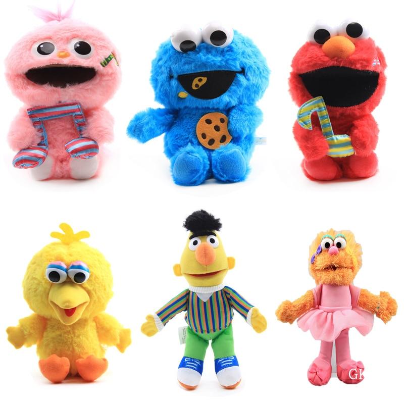 23 cm Q tarzı Anime susam sokağı Elmo kurabiye Grover Zoe büyük kuş peluş oyuncaklar bebek Peluche doldurulmuş hayvanlar oyuncaklar kadınlar için çocuklar hediye