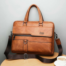 Briefcase-Bags Bolsa Laptop-Bag Work-Handbag Business-Leather Shoulder 14inch Hombre