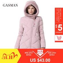 GASMAN 2019 hiver Collection marque de mode épais femmes hiver Bio doudoune à capuche femmes Parkas manteaux grande taille 5XL 6XL 1702