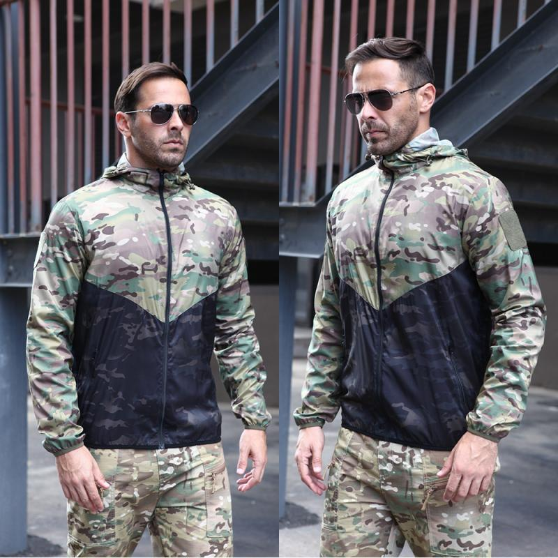 Tactical Windbreaker Autumn Men Military Camouflage Fleece Jacket Army Clothing Multicam Camouflage Windbreakers Hunting Coats