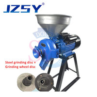 Electric animal poultry feed corn grain wheat crushing pulverizing mill/maize sorghum stuff grinder/rice pulp making machine