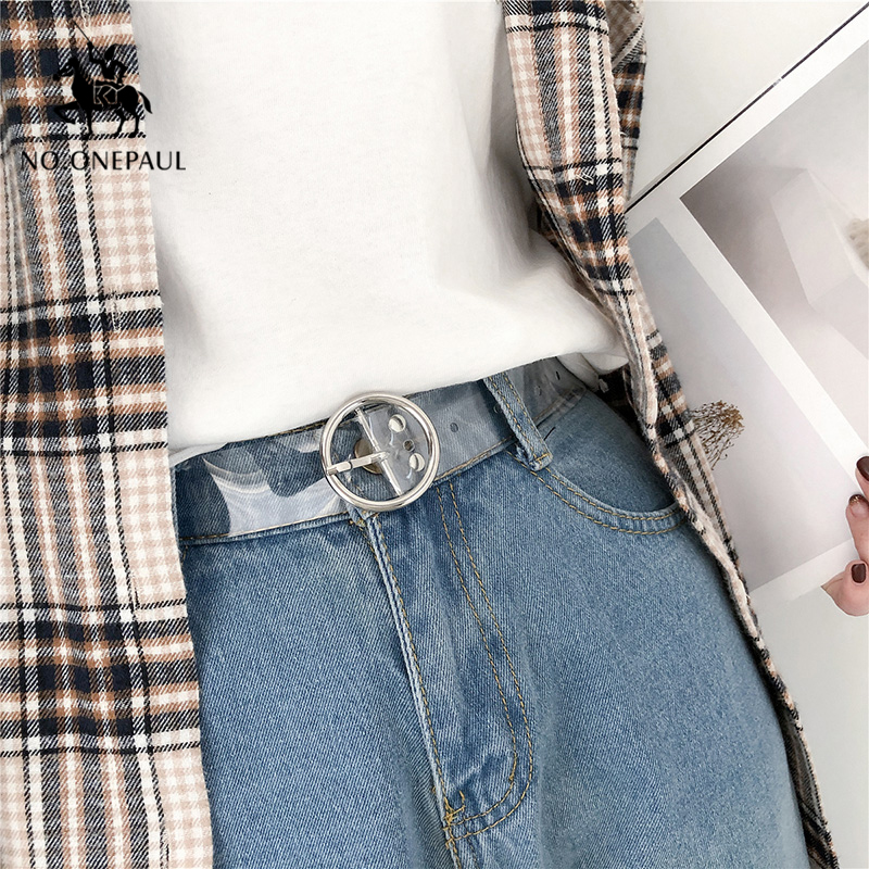 NO.ONEPAUL Best Women's Belt Fashion Leather Metal Heart Pin Buckle Belt Party Dress Decor Round Buckle Jeans Belt Women Student