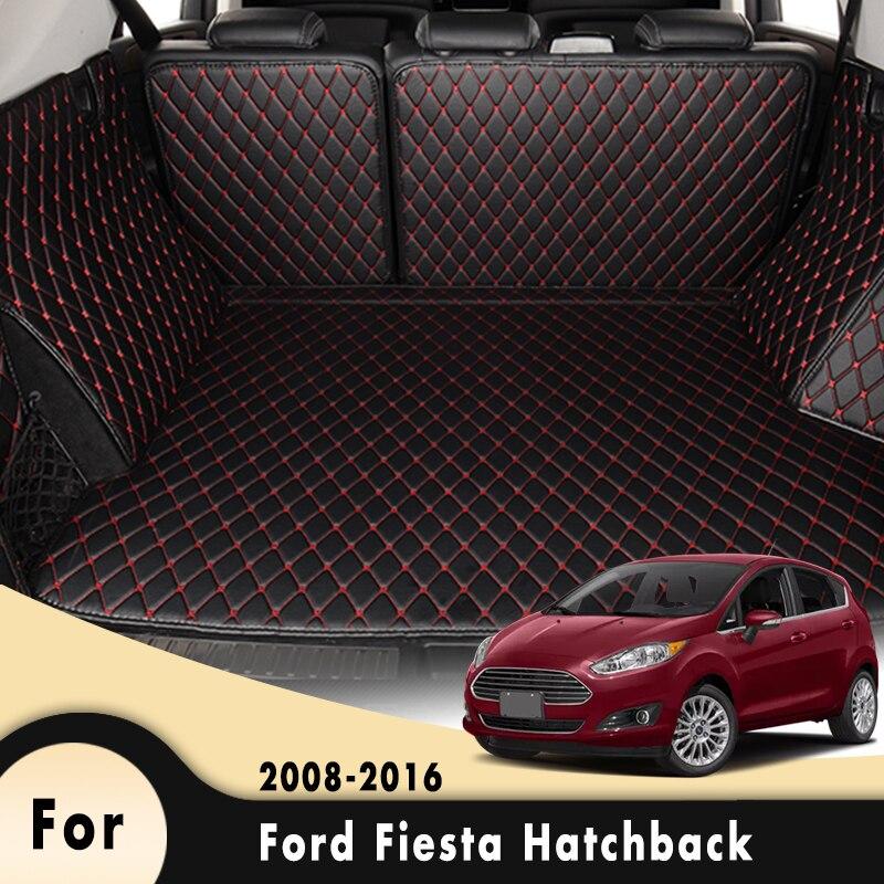 Car Boot Mat Rear Trunk Liner Cargo Trunk Mats For Ford Fiesta Hatchback 2008 2009 2010 2011 2012 2013 2014 2015 2016