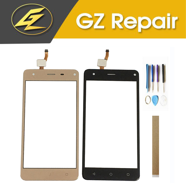 5.0 Inch For Prestigio Grace P5 PSP5515DUO PSP5515 Touch Screen Glass Digitizer Panel Front Black Gold Color With Tools Tape