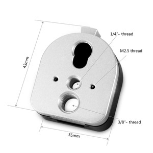 """Image 4 - Smallrig s lock dispositivo de montagem de liberação rápida macho e placa famale com 1/4 """"e 3/8"""" furos rosqueados para tela do monitor 1855"""