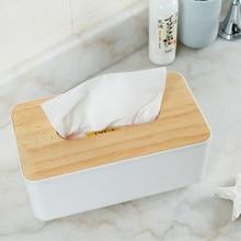 1 шт. модная простая деревянная коробка для салфеток для спальни домашняя кухонная коробка для хранения салфеток бумажные салфетки в рулонах коробка Съемный контейнер Органайзер