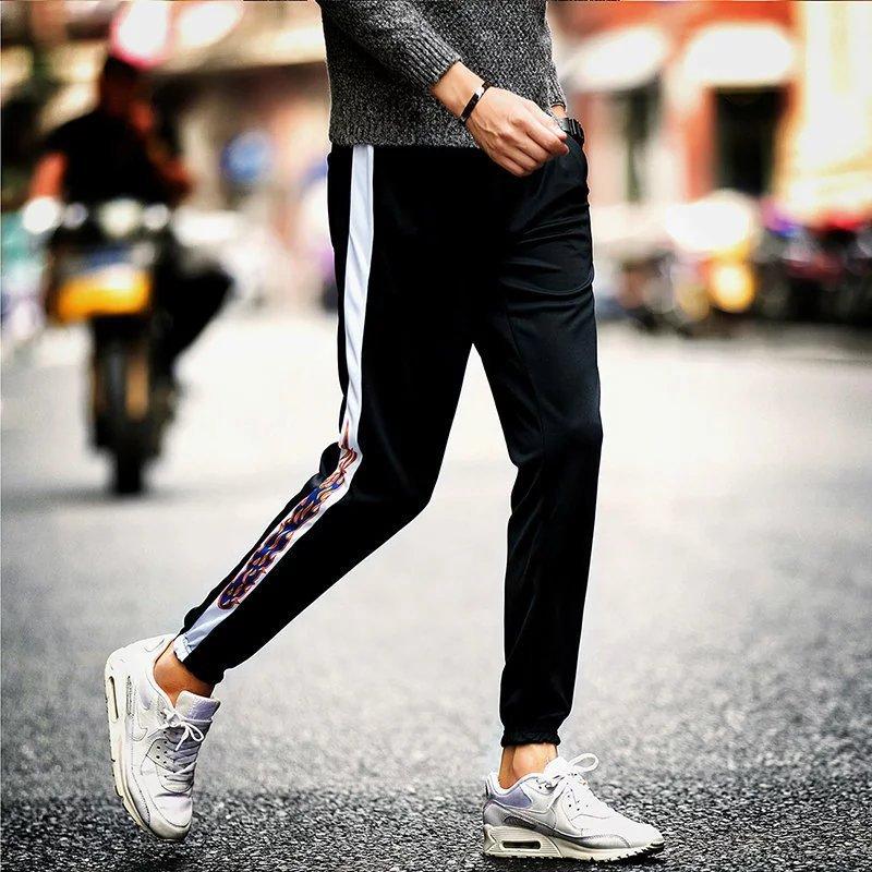 2018 New Style Spring MEN'S Trousers Korean-style Trend Slim Fit Pants Casual Pants MEN'S Sports Pants Drawstring Top Harem Pant