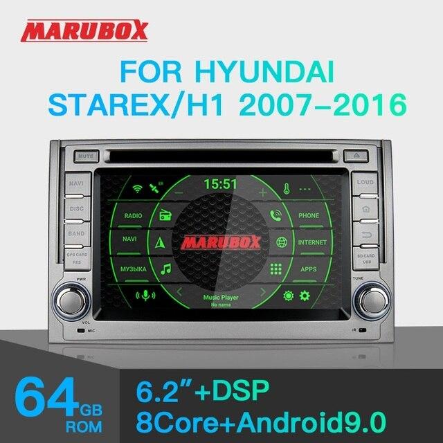 "Marubox KD6224 araba DVD OYNATICI Hyundai Starex, H1 2007 2016,10 ""IPS ekran DSP ile, GPS navigasyon, Bluetooth, Android 9.0"