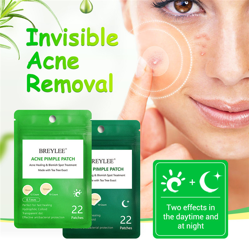 BREYLEE Acne Pimple Patch Acne Treatment Stickers Pimple Remover Tool Blemish Spot Skin Care Face Mask Acne Cream Daily Use