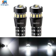 2 led canbus w5w t10, 3014 18 smd, lente, lâmpada led, sem erros, seta, estacionamento de porta, sinal lateral, luz indicadora carro 6500k branco