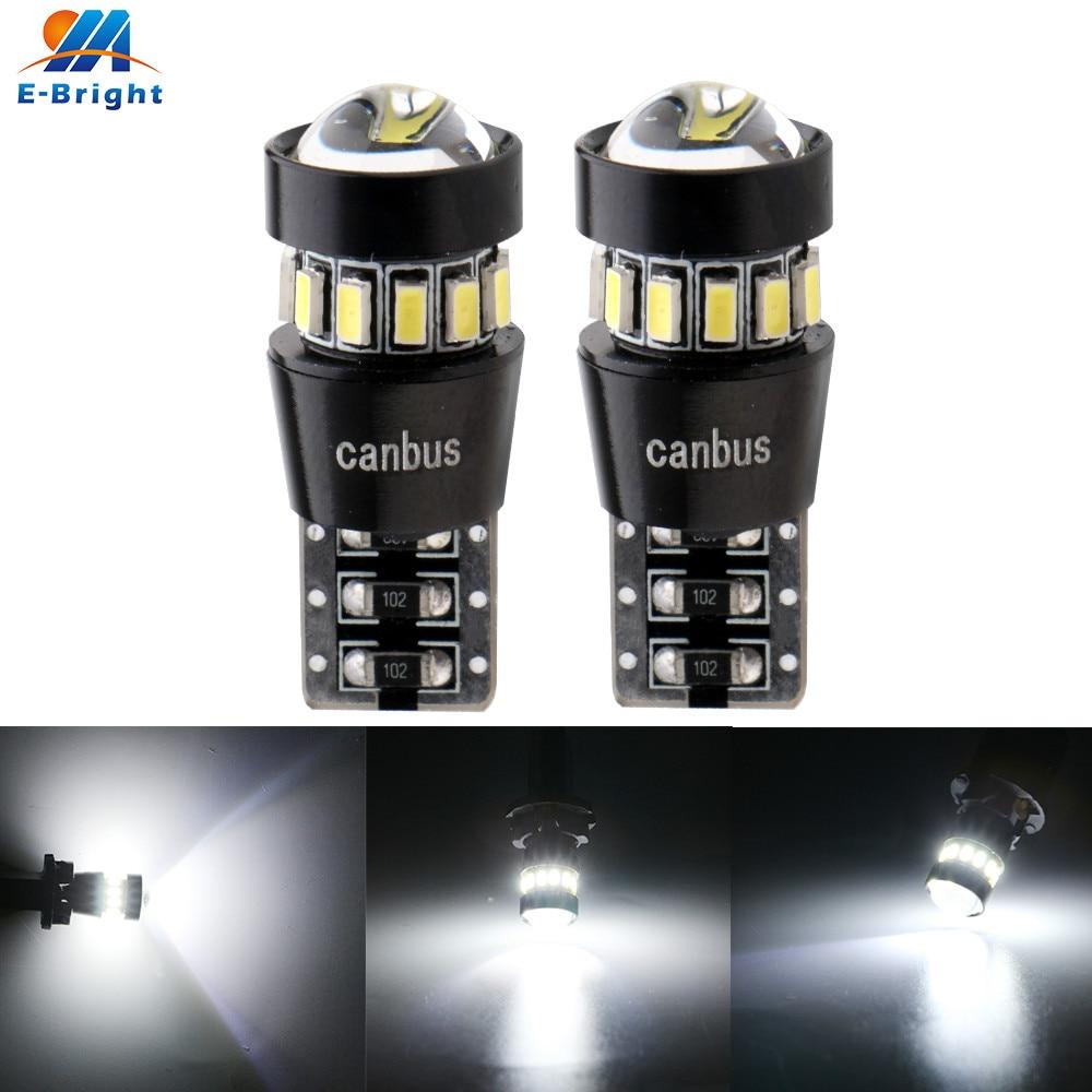 2x w5w t10 canbus 3014 18 smd lente lâmpada led nenhum erro de volta estacionamento porta sinal lado fabricante luz indicadora carro automóvel 6500k branco