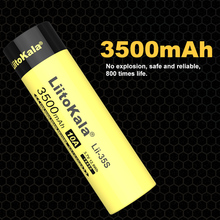 NEW LiitoKala 18650 Battery Lii 35S 3.7V Li ion 3500mAh 10A discharge Power battery For high drain devices