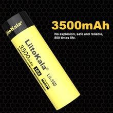 Liitokala 18650 bateria Lii-35S 3.7v li-ion 3500mah 10a bateria de energia de descarga para dispositivos de drenagem alta