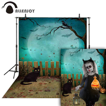 Allenjoy Halloween photography backdrop black cat tree pumpkin wood photo background studio photophone photozone vinyl photocall allenjoy photophone background photography studio fantasy halloween magic window fire basin fairy tale backdrop palace photocall