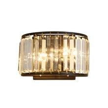 Скандинавский винтажный Хрустальный настенный светильник для
