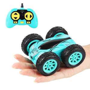 3.7 inch RC Car 2.4G 4CH Drift Stunt Double-sided bounce Stunt Car Rock Crawler Roll Car 360 Degree Flip Kids Robot RC Cars Toys