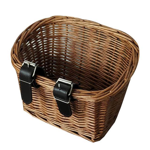 наружные экологически чистые ручные тканые корзины из ротанга фотография