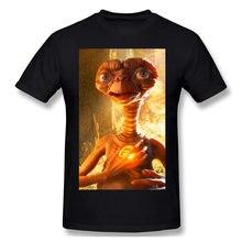 T-Shirt manches courtes Homme, noir ET surdimensionné, avec le film Extra terrestre elliptt science-Fi, en famille