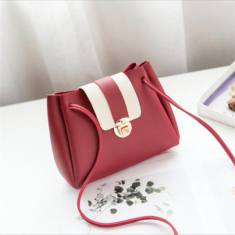 1pc Crossbody Bags For Women 2019 Leather Handbags Small Bucket Shoulder Bag for Girls Messenger Bag Handbags Bolsa Feminina