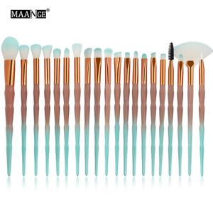 20 Pcs Makeup Brushes Powder Concealer Blush Liquid Foundation Face Make up Professional Beauty Cosmetics Drawing Tools Hot Sale