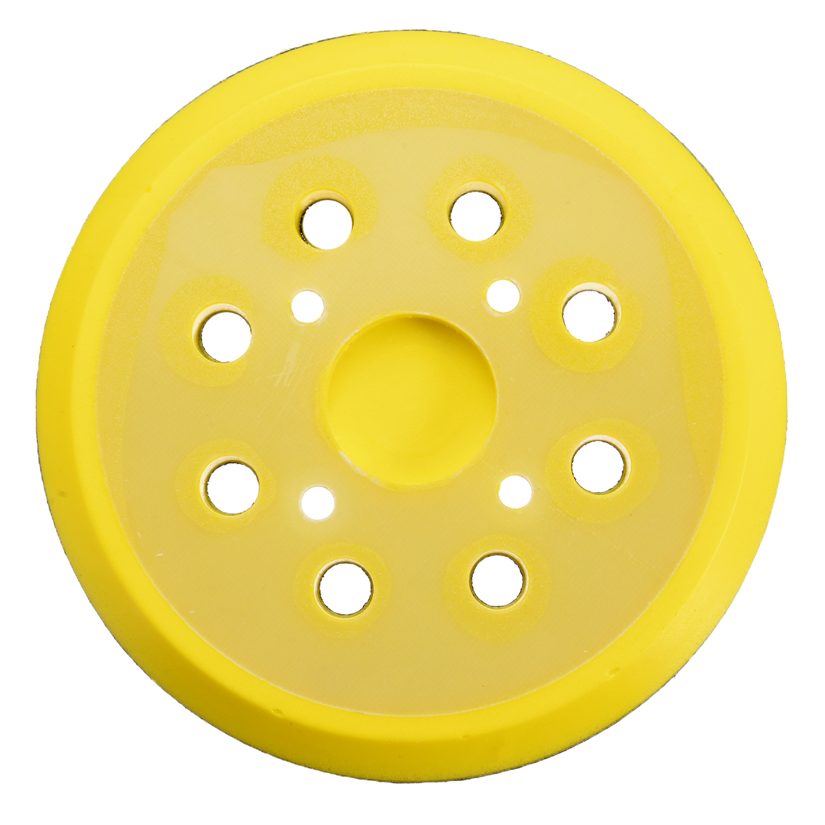 Image 2 - 5 Inch 8 Hole 125mm Back up Sanding Pad 4 Nails Hook and Loop Sander Backing Pad for Electric Grinder Power Tools Accessories-in Abrasive Tools from Tools
