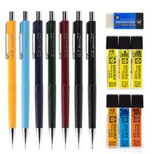 Sakura – ensemble de crayons mécaniques 0.3 0.5 0.7 0.9mm, avec gommes à noyau de plomb, pour écriture et dessin Manga, fournitures de papeterie pour étudiants