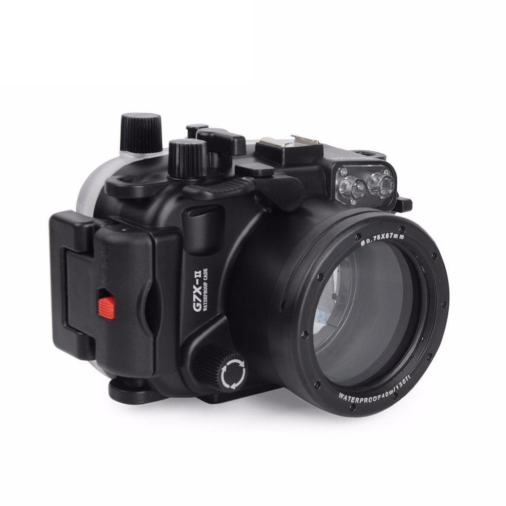 Subaquática à Prova Bolsa para Canon Mcoplus 130f D130água Câmera Case Habitação G7x Mark ii G7xii G7x-ii Dslr Wp-g7xii 40 m –