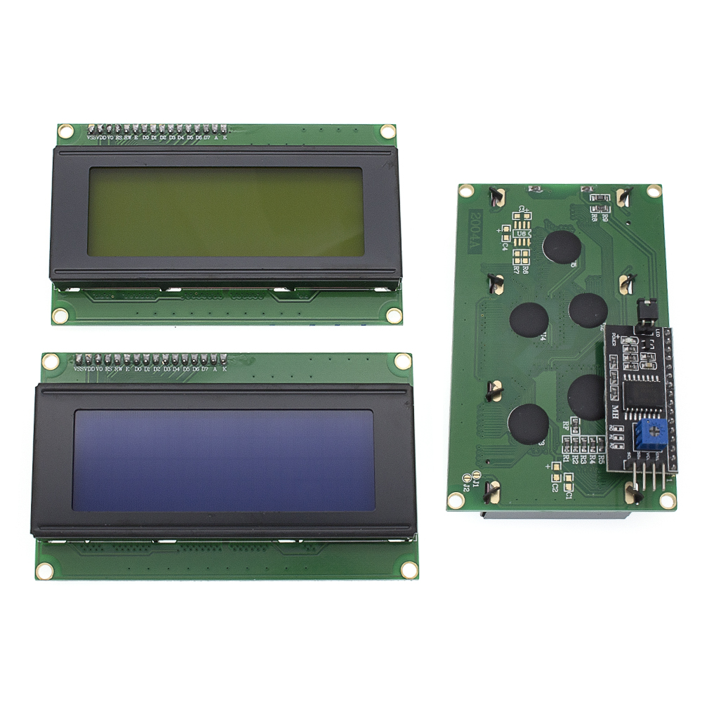 10PCS LCD2004+I2C 2004 20x4 2004A Blue/green Screen HD44780  Character LCD /w IIC/I2C Serial Interface Adapter Module