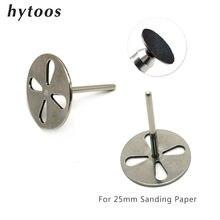 Hytoos disco de aço inoxidável para 25mm lixa papel 3/32