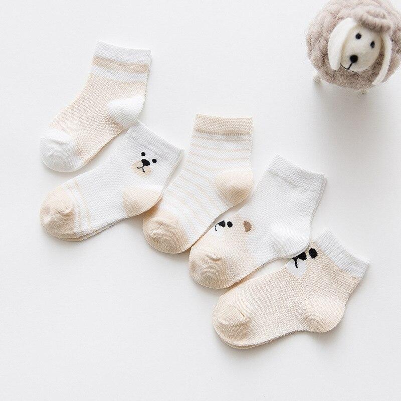 5 Pairs/Lot Baby Socks  For Newborns Infant Cute Cartoons Soft Cotton Socks Summer 0-24 Month Boy Girl Lovely Mesh Kids Gift CN 6