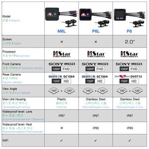 Image 2 - SYS VSYS M6L P6L WiFi אופנוע DVR מצלמת דאש Full HD 1080P + 720P קדמי אחורית עמיד למים אופנוע מצלמה שחור מקליט תיבה