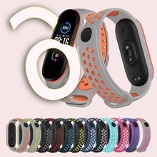Fitness Bracelet Accessories Sport Smart Band Strap For Mi Band 6 TPU Wristband Dual Color Breathable Strap For Xiaomi Mi Band 6