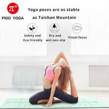 PIDO YOGA 183*61*0.6cm Double Color Yoga Mat with Position Line Thick Hot Pilates Mats Gymnastics Pranamat Fitness