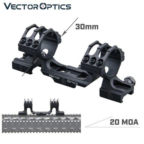 optica do vetor 20 moa uma peca extended escopo anel montagem picatinny ferroviario caber 30mm