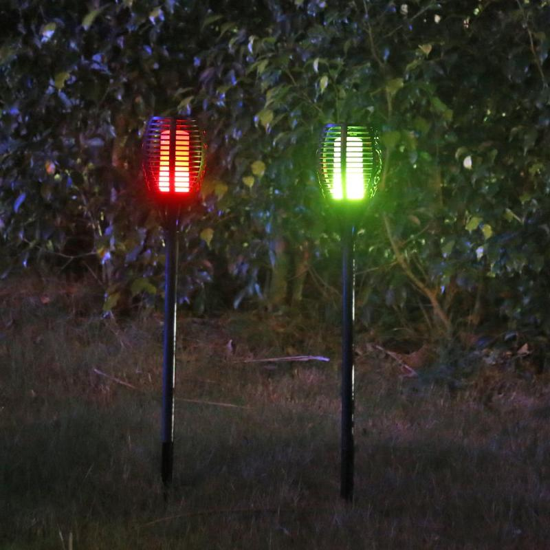 66LED Solar Colorful Flame Light Outdoor Waterproof Garden Lawn Torch Lamp|Solar Lamps| |  - title=