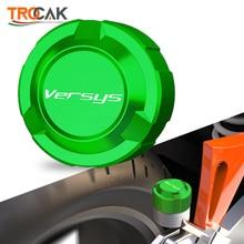 For Kawasaki Versys 650 1000 X300 2008   2020 2019 2018 2017 Motorcycle CNC Rear brake Fluid Cylinder Master Reservoir Cover Cap
