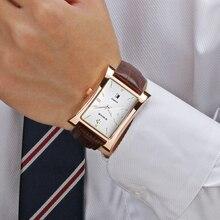 Relógio de pulso masculino wwoor, relógios de pulso de couro genuíno clássico, marca de luxo, moda masculina, 2019, 2019