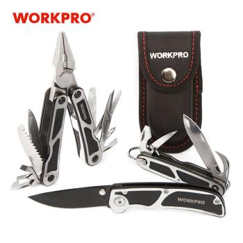 WORKPRO 3PC Camping Tool Set Multi Pliers Tactical knife Multi Tools Survival Tool Kits 1