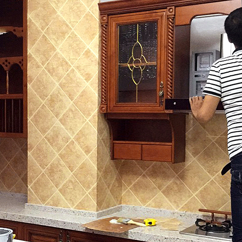 Imitation Tile Wallpaper Chinese Style Rhombus Stereo Wall Bathroom Tile Antique Brick Restaurant Hotel Decoration Kitchen Wallp