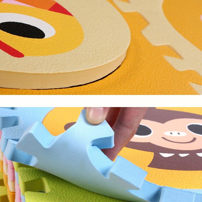 Animaux bébé ramper tapis Puzzle EVA mousse 1.3cm épais enfants tapis jouets jouer tapis environnement verrouillage Split enfants tapis - 4