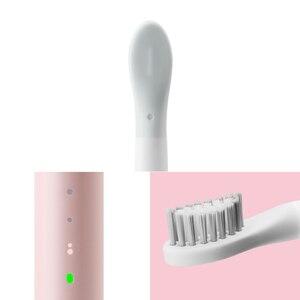 Image 3 - Von Xiaomi youpin SO WEIß Sonic Elektrische Zahnbürste Tragbare IPX7 Wasserdichte Tiefe Sauber Induktive Wiederaufladbare Drahtlose Pinsel