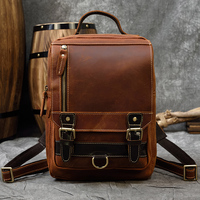 MAHEU Vintage Design Leder Rucksack Aus Echtem Leder Männlichen Bagpack Reisetasche Der Männer Große Kapazität Computer Rucksäcke Daypack