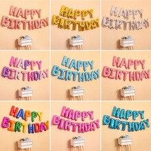 16 дюймов, розовое золото, с днем рождения, фольга, воздушный шар, баннер, украшение, 1-й первый день рождения, для маленьких мальчиков и девочек, вечерние, мой один год, день рождения, для детей