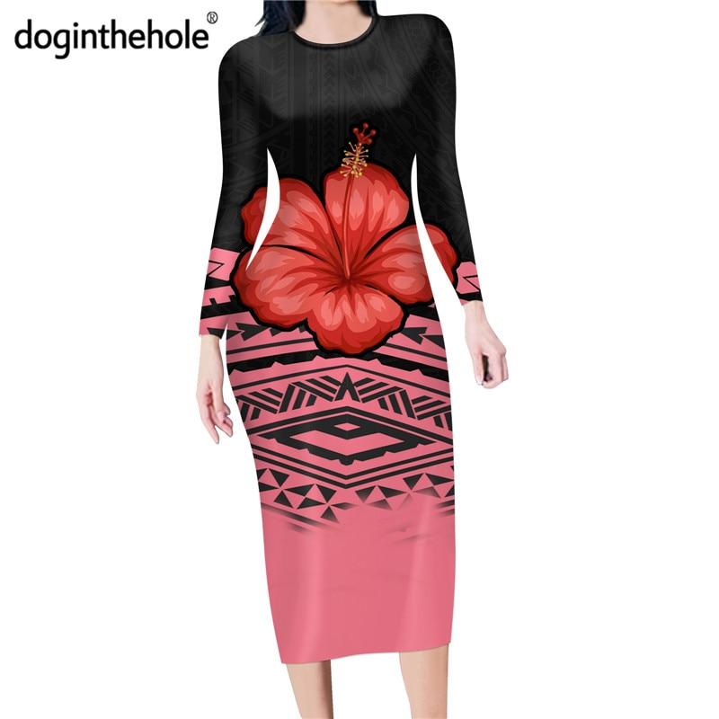 Купить doginthehole осеннее повседневное платье карандаш с длинным