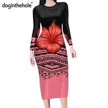 Doginthehole осеннее Повседневное платье карандаш с длинным